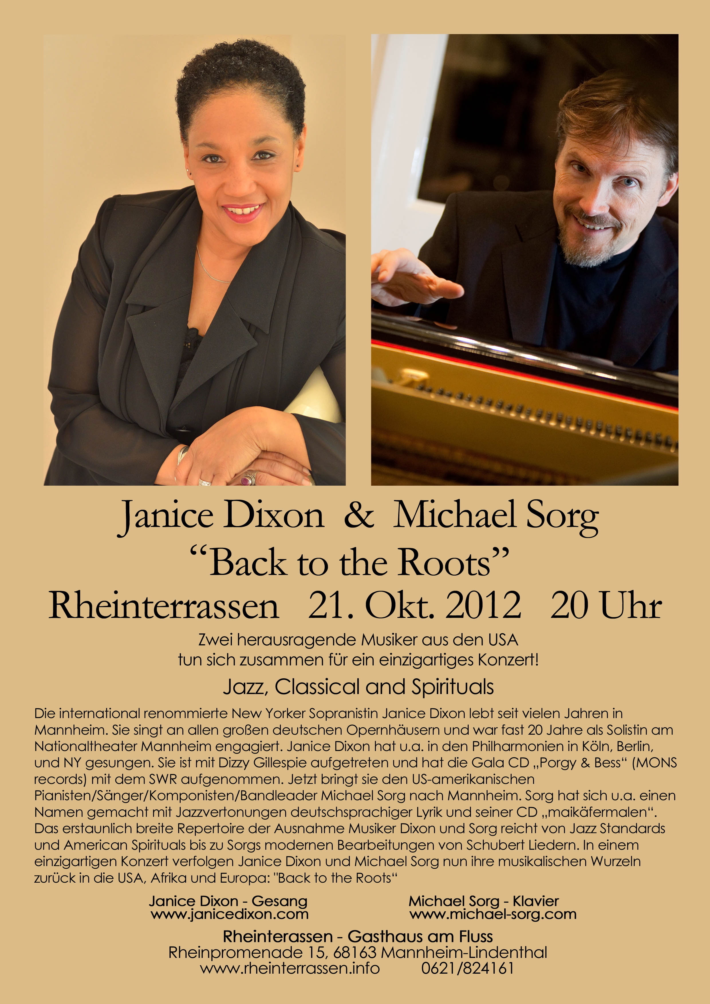 Back to the Roots - Janice Dixon and Michael Sorg